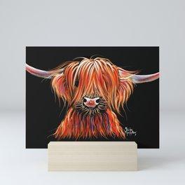 Scottish Highland Cow ' CHARLEY ' by Shirley MacArthur Mini Art Print