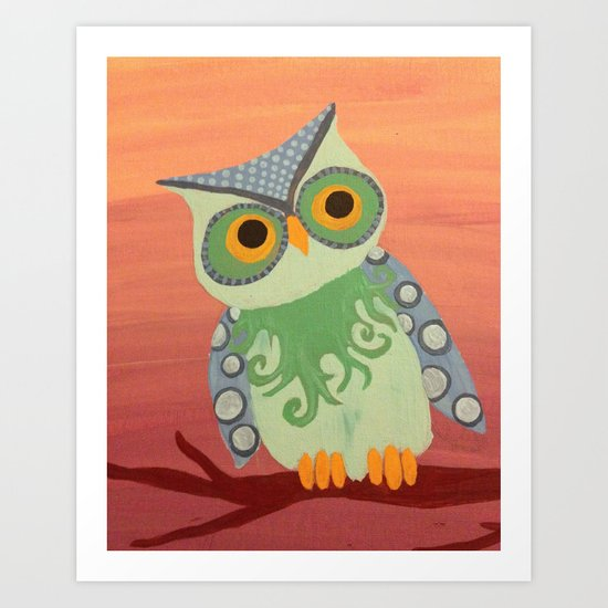Owl All About It Art Print