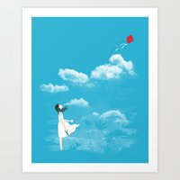 let it go Art Prints featuring Let Go by I Love Doodle