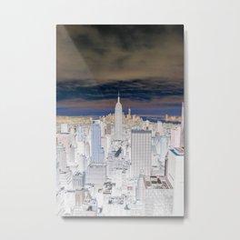 NYC (invert) Metal Print