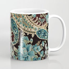 Brown Turquoise Paisley Coffee Mug