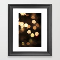 Celebrate - Gold Bokeh Framed Art Print