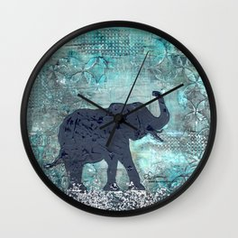 Majestic Series: Turquoise and silver Wall Clock