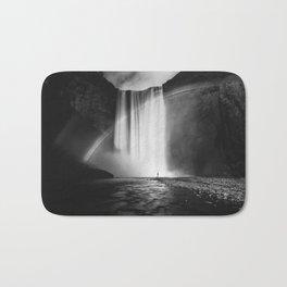 Skógafoss Grey Rainbow Bath Mat