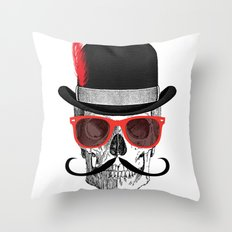 Cool Skull Throw Pillow