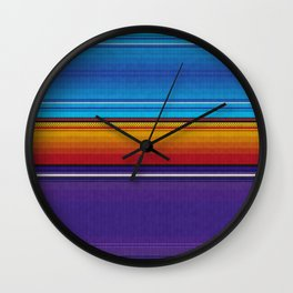 Mexican serape #4 Wall Clock