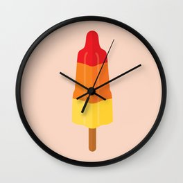 Rocket ice cream on pink Wall Clock