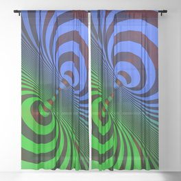 Dualism (color) Sheer Curtain