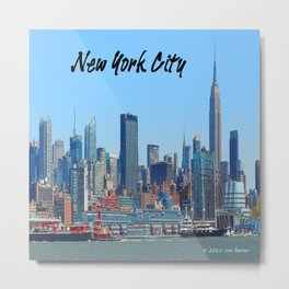 New York Gifts Metal Print