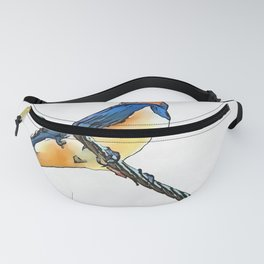 Swallow Bird On A Wire Fanny Pack