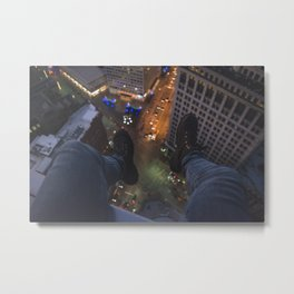 Look Down on Cleveland Metal Print