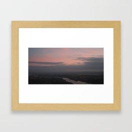 sunset from the hills Framed Art Print