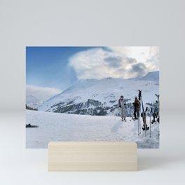 Ski Resort Mountain Landscape Mini Art Print