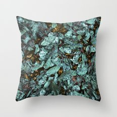 Patina Leaves Throw Pillow