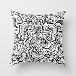BLACK & WHITE 2 Throw Pillow
