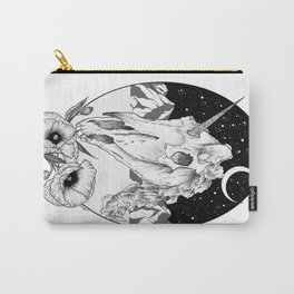 Unicorn skull of night Carry-All Pouch