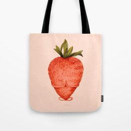 strawberry yoga Tote Bag