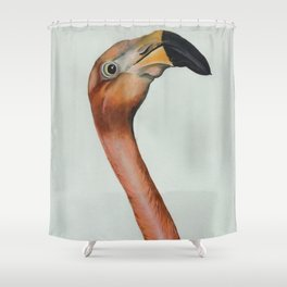 Flamingo solo Shower Curtain