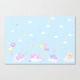 Bubbly Mice Sky Canvas Print
