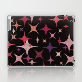 Shimmering Purple, Red, Pink and White Stars Laptop & iPad Skin