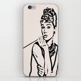Lady With Cig iPhone Skin