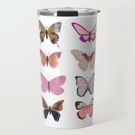 Pink Butterflies Travel Mug