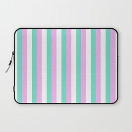 Spun Sugar Stripes Pattern Print Laptop Sleeve
