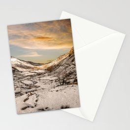 Nant Ffrancon Winter Sunset Stationery Cards