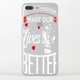 Brave firefighters Clear iPhone Case