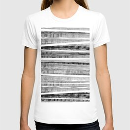 Black&Grey Watercolor Stripes T-shirt