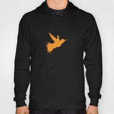 Bird Fly No. 1  (orange) Hoody