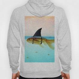 goldfish with a shark fin Hoody