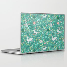 Spring Pattern of Bunnies with Turtles Laptop & iPad Skin