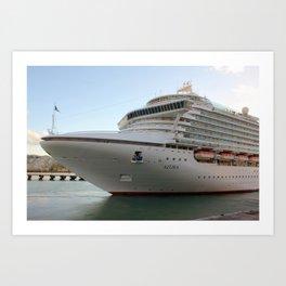 MV Azura cruise ship Art Print