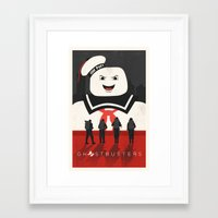 ghostbusters Framed Art Prints featuring Ghostbusters by Bill Pyle