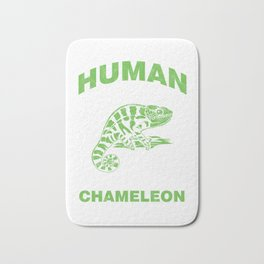 Chameleon Herps Reptile Pets This Is My Human Costume I'm Really A Chameleon Gift Bath Mat