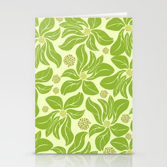 leafy pattern II Stationery Cards