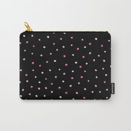 Dazzling Pink Polka Dots (Confetti Sprinkles) Carry-All Pouch