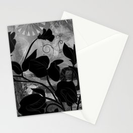 Queen Sweet Pea -- grayscale Stationery Cards