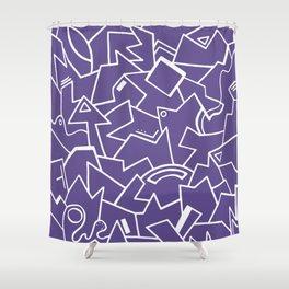Ultra Violet Instinct Shower Curtain