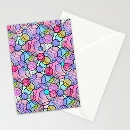 Pastel Circles Stationery Cards
