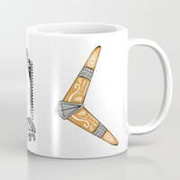 the legend of zelda Mugs featuring Zelda legend - Boomerang by Art & Be