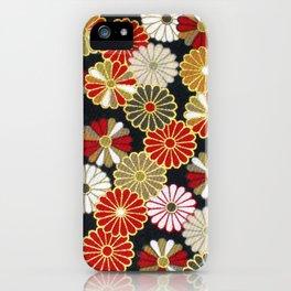 Golden Chrysanthemums iPhone Case