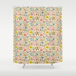 WOODLAND FLOWERS Shower Curtain