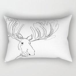 Sketchy Moose Rectangular Pillow
