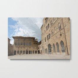 Volterra medieval village in summer Metal Print