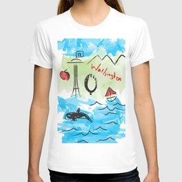 City scape - Seattle, Washington T-shirt