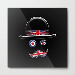 British Flag Face. Metal Print