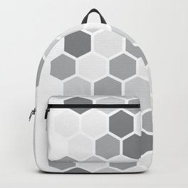 Texture hexagons - Shades of Grey Backpack
