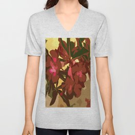 Beautiful Excotic Flowers Unisex V-Neck